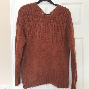 Aerie scoop neck chunky knit sweater